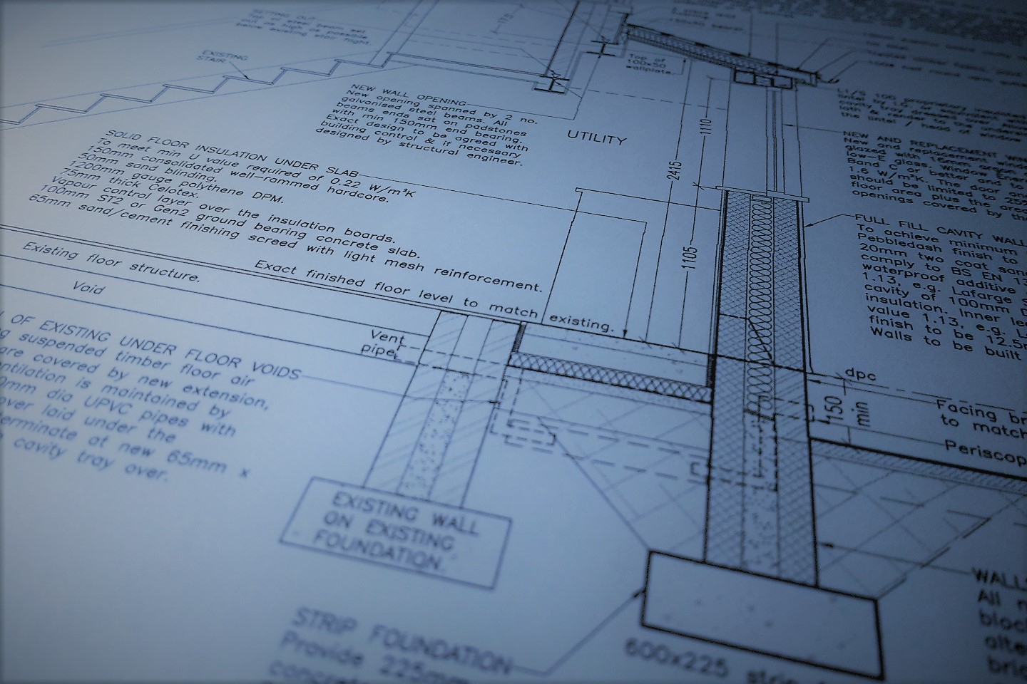 kitchen utility extension full plans